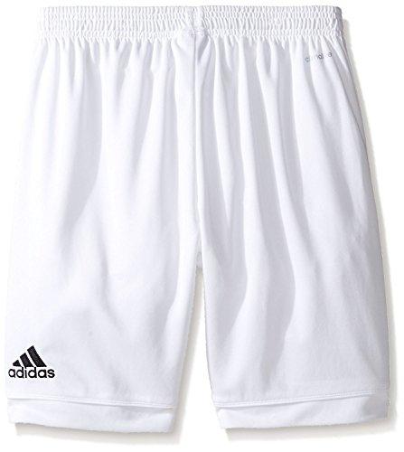 adidas Youth Soccer Squadra 17 Shorts, White/White, Small