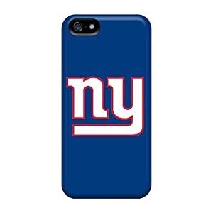 Rugged Skin Case Cover For Iphone 5/5s- Eco-friendly Packaging(new York Giants 4)