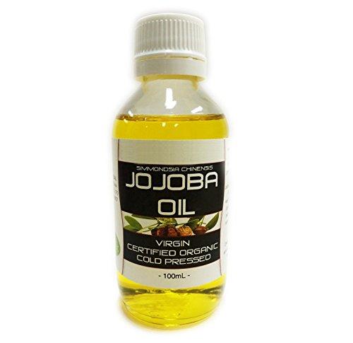 Aceite de Jojoba orgánico puro prensado en frío 100%, 100ml - Por el Cuidado de la piel natural y eficaz by DELIAWINTERFEL
