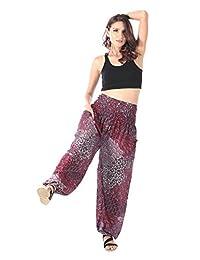 CandyHusky Womens Aladin Genie Loose Hippie Baggy Boho Yoga Harem Pants One Size