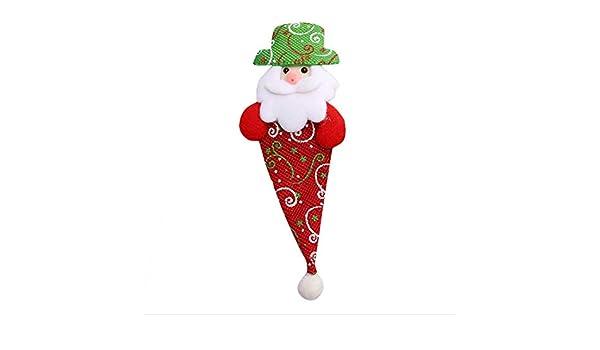 glgllm Moda Sombrero de Santa Sacks Soporte de Tenedor Cuchillo ...