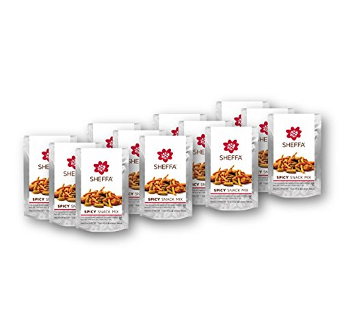 (Sheffa Snack Trail Mix, Spicy, 1.5 oz ( 12 Pack ) HEALTHY & TASTY | NUT FREE | Vegan | Kosher | Gluten Free | Non GMO | Low Sodium | for busy people - OFFICE/ WORK)