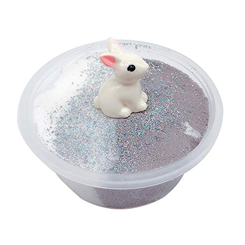 Matoen Beautiful Rabbit Mixing Cloud Slime Putty Scented Stress Kids Crystal Clay Slime Rabbit Drawing mud Thousand Silk Poke Toy (a, Multicolor)