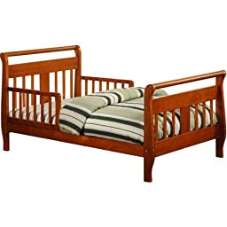 Baby Relax Sleigh Toddler Bed, Walnut