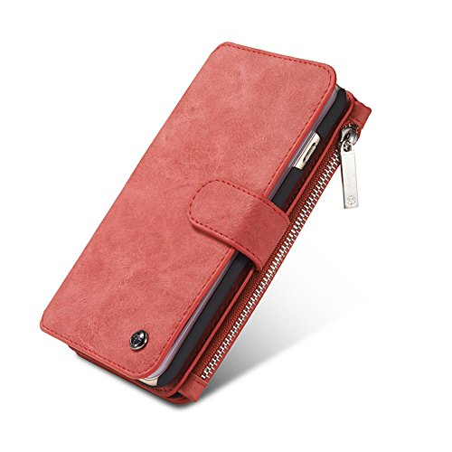Wallet Case for iPhone 7/8 4.7 inch,SIX-SEVEN Vintage Magnetic Closure Cover Wallet with Credit Card Holder Slot Crash Pocket Pink Women iPhone 7/8 4.7 inch Case (iPhone 7/8,4.7 Inch,Pink)