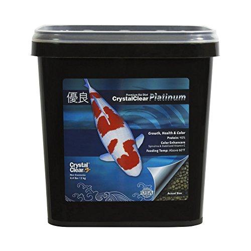 CrystalClear Koi Food, Platinum, Std Pellet, 4.4 lb (Clear Crystal Pond)