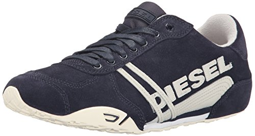 Diesel Mens Harold In Nylon Solare Moda Sneaker India Inchiostro / Argento Betulla