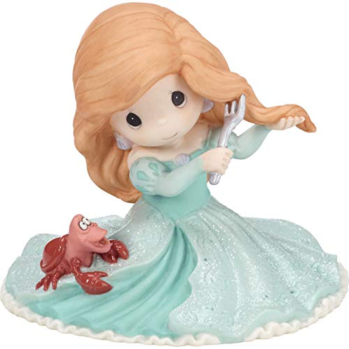 (Precious Moments Disney Showcase You Fill My World Ariel And Sebastian The Little Mermaid Bisque Porcelain Figurine 182092)