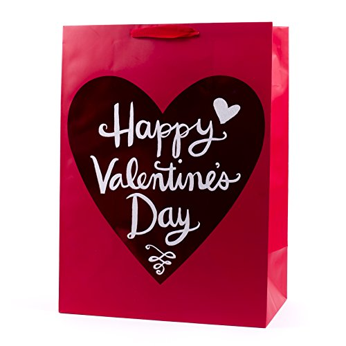 Hallmark Oversized Valentine's Day Gift Bag (Happy Valentine's Day Foil Heart)