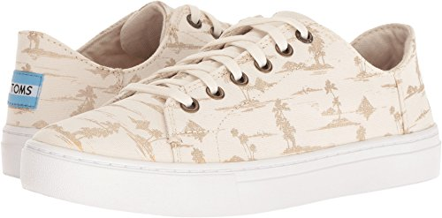 TOMS Women's Lenox White/Gold Palms 7 B US