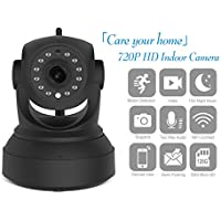 Security Camera System, 720P HD Wifi Wireless IP Security Surveillance Camera for Baby Pet Nanny Monitor with Night Vision and Two Way Audio