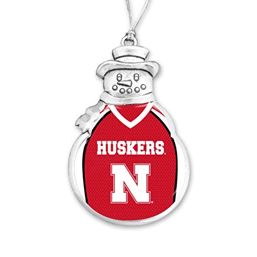 From the Heart University of Nebraska Christmas Ornament - Snowman with Football Jersey