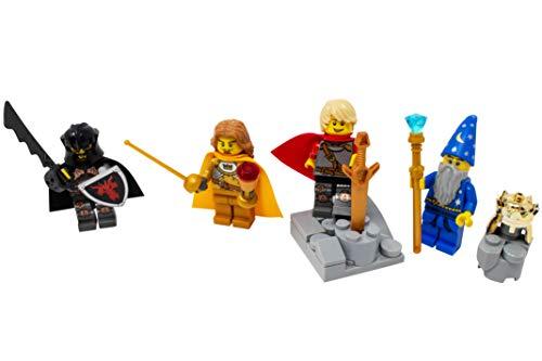 LEGO King Arthur, Lancelot, Merlin, and Mordred Toy - Custom Medieval Arthurian Knights (Sword King Arthur Toy)