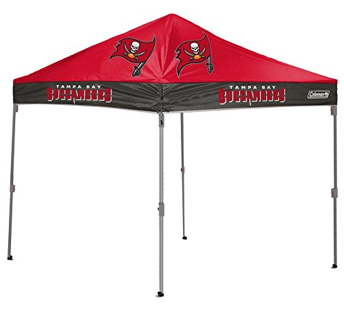 Coleman NFL Tampa Bay Buccaneers Straight Leg Canopy, 10 x 10, - Coleman Tampa Bay