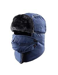 TRIWONDER Winter Trooper Trapper Hat Hunting Hat Ear Flap Trooper Hat Mask