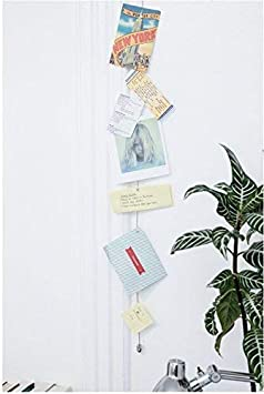 Kikkerland Photo and Card Holder with 8 Magnets Black