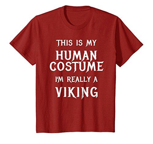Kids I'm Really a Viking Halloween Costume Shirt Easy Funny Top 10 (Top Ten Easy Halloween Costumes)