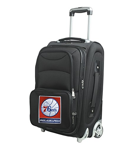 NBA Philadelphia 76ers In-Line Skate Wheel Carry-On Luggage, 21-Inch, Black by Denco