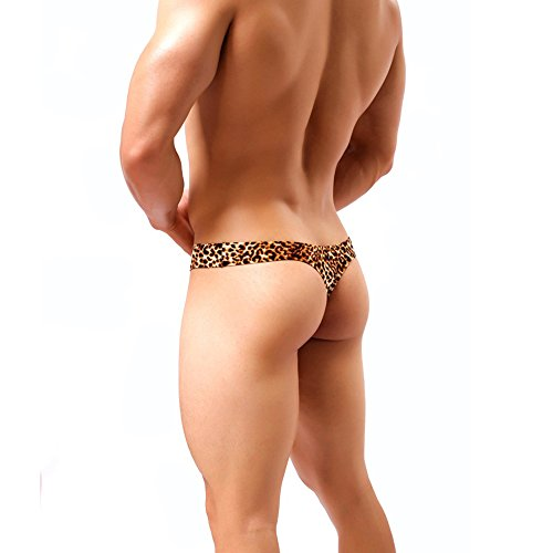 XinGe Männer reizvolle Leopard-niedrige Taille Entwurfs-G-Schnüre Zapfen