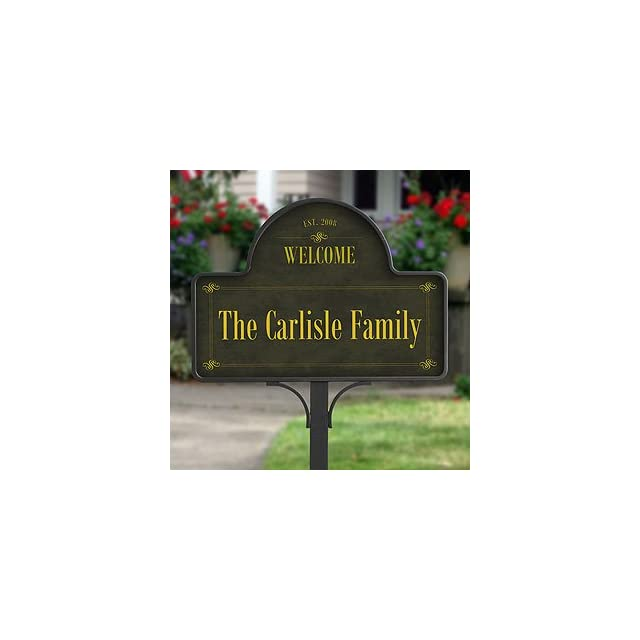 Family Welcome Personalized Yard Stake