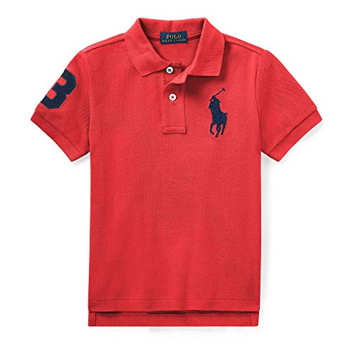 - Polo Ralph Lauren Boys Embroidered Pique Polo Shirt (Red/Black Pony, Small)