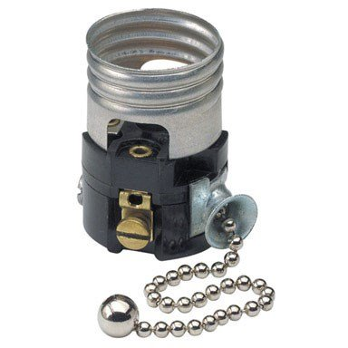 Leviton C21-19980-00M 250V 660W Pull Chain Interior Socket with Pull Chain ()