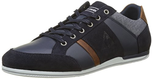 Herren Blau Blue Bleu Blau Chambray Le Coq Dress Leather Cernay Sneaker Sportif fH6qwa