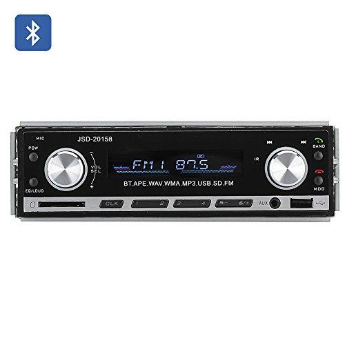 1-DIN-Bluetooth-Car-Stereo-Aux-USB-SD-Card-Support-MP3-WAV-WMA-FM-4x-45W-Speaker-Support