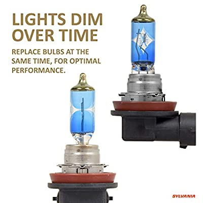 SYLVANIA - H11 (64211) SilverStar zXe GOLD High Performance Halogen Headlight Bulb - Headlight & Fog Light, Bright White Output, Best HID Alternative, Xenon Charged Technology (Contains 2 Bulbs): Home Improvement