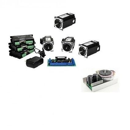 NEMA23 282 oz-in closed-loop stepper Motors 4 Axis CNC Kit