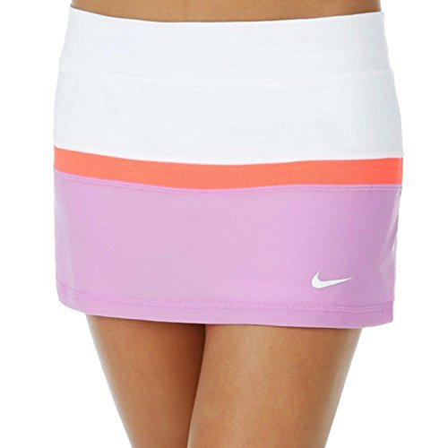 - Nike Women's Court Dri-FIT Tennis Skort (X-Large, White Fuchsia Hot Lava)