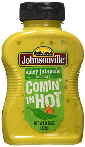 "Johnsonville ""Comin' in Hot"" Spicy Jalapeno Mustard 9.75 Oz Each (Pack of 3)"