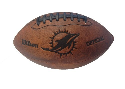 NFL Miami Dolphins Vintage Throwback Football, 9-Inches]()