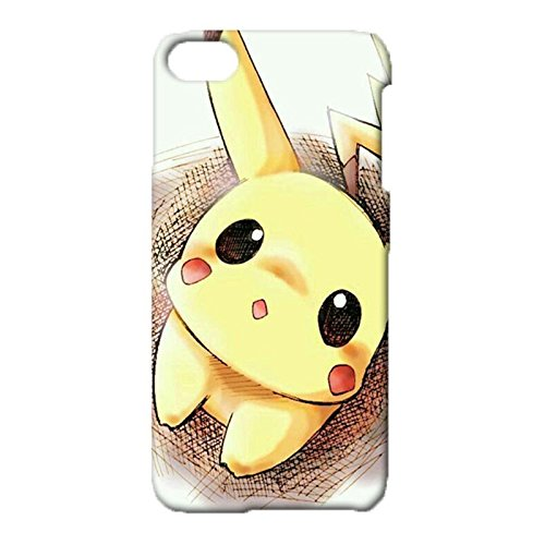 iPod Touch 6th Generation 3D Hard Delicate Phone Case,Packet Monster Pikochu Hot Classical Pikochu Pattern Printed Case for iPod Touch 6th Generation