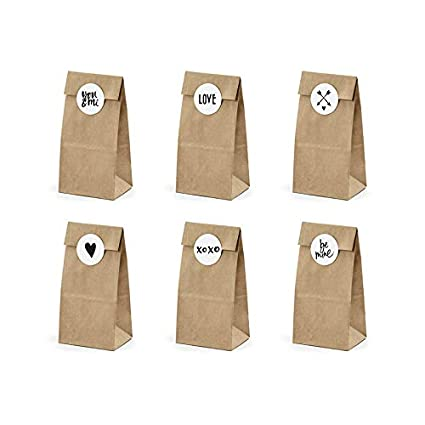 6 bolsas kraft con Stickers 18.5 cm): Amazon.es: Juguetes y ...