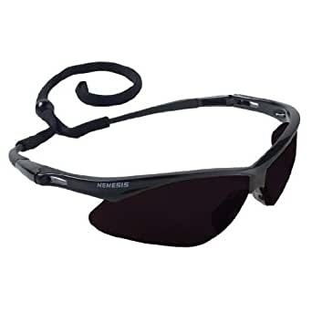 Jackson 22475 Nemesis 3020121 Safety Glasses Black Frame Smoke Lens Anti Fog, 1 Each