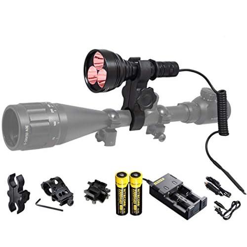 400 Yards Green LED Hunting Light Beam Long Range Hog Predator Varmint Gun Mount