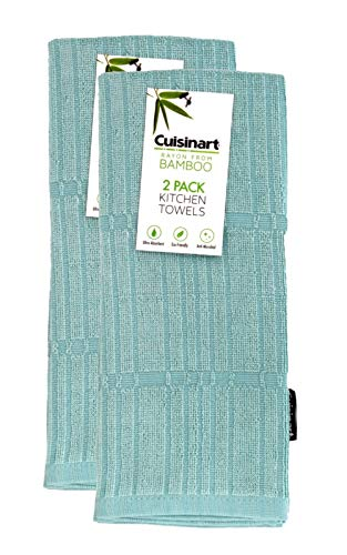 - Cuisinart Bamboo Dish Towel Set - Kitchen and Hand Towels for Drying Dishes / Hands - Absorbent, Soft and Anti-Microbial-Premium Bamboo / Cotton Blend, 2 Pack, 16 x 26