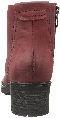 Caprice 26257, Botines Para Mujer Rojo (BORDEAUX NUBUC 545)
