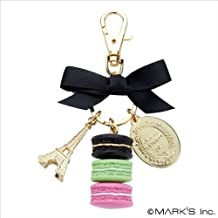 LADUREE Keychain Ring Eiffel Tower Macaron Charm M -Regulus(Black) by MARKS by MARKS