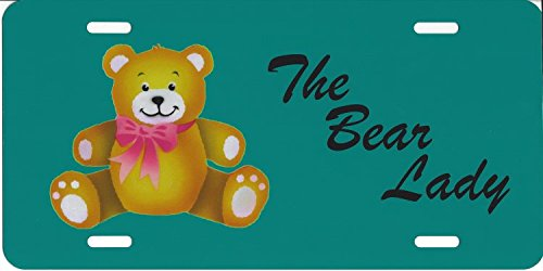 The Bear lady Teddy Bear Photo License Plate