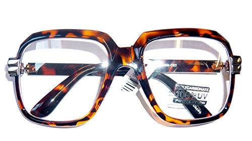 4065 Tortoise 80s Retro Hip Hop Eyeglasses Oversized Clear - Hip Hop Eyeglasses