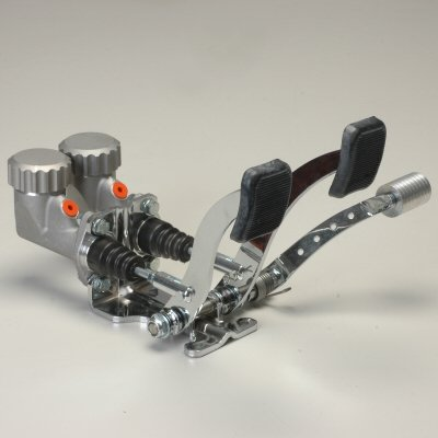 Basic Pedal Assembly With Roller Throttle And Round Reservoirs 7/8 Brake 3/4 Clutch Dune Bug Buggy Sandrail Atv Baja Bug Trike