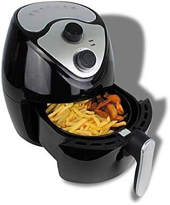 Freidora de aire caliente, Airfryer, freidora sin grasa, fácil de limpiar, 2,6 litros, 1300 W, color negro: Amazon.es: Hogar