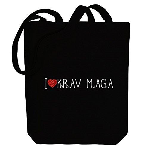 Idakoos I love Krav Maga cool style - Sport - Bereich für Taschen l0chS