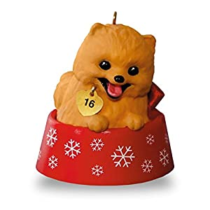 Hallmark Keepsake 2016 Puppy Love Pomeranian Christmas Ornament