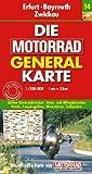Motorrad Generalkarte Deutschland Erfurt, Bayreuth, Zwickau 1:200 000