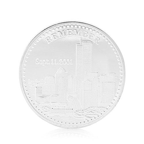 (Cicitop 911World Trade Center Freedom Statue of Liberty Silver Plated Commemorative Coin Commemorative Collectible Coin)