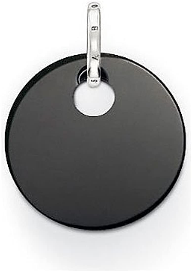 Thomas Sabo - Thomas Bloqueo pe428-024-11 Special Addition Disco Colgante con Gancho de Plata Onyx pequeño