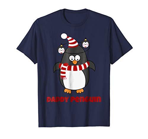 Mens Christmas Penguin Pajama Animal Costume Daddy Penguin Shirt -